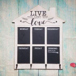 Farmhouse chalkboard weekly planner NWOT
